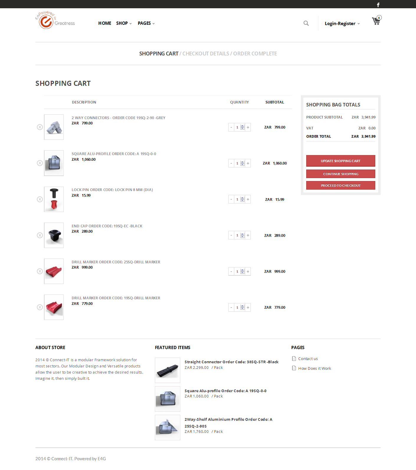 product purchase page